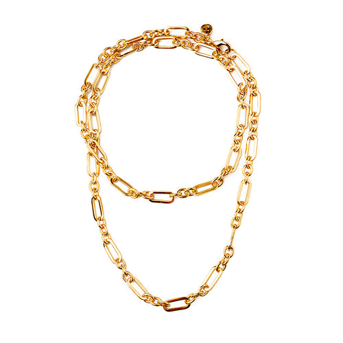 Velatti Plain Links Long Necklace