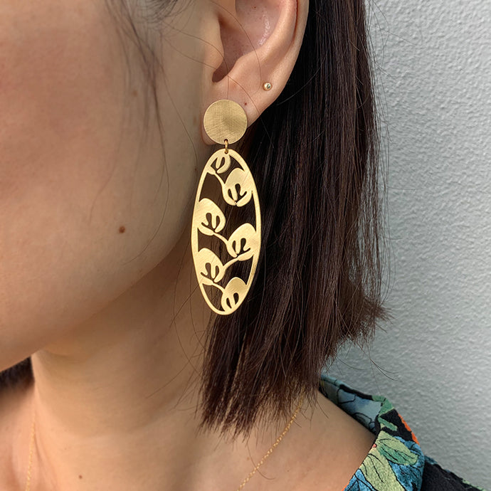 RAS Leaves Gold Earrings