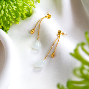 Lotus Leaf Drop Earrings