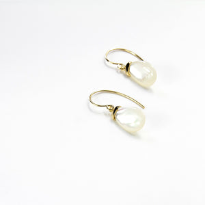 Luna Moonstone Hook Earrings
