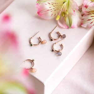 Lyra Gemstone Small Hoops