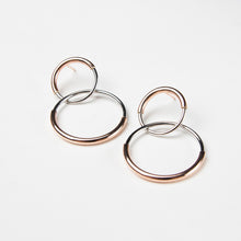 rhodium plated hoop earrings
