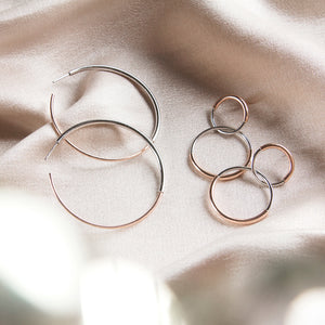 rose gold 925 sterling silver hoop earrings