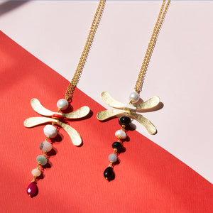 Mobile Dragonfly Long Necklace