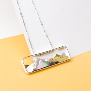 Mother of Pearl Mountains Necklace