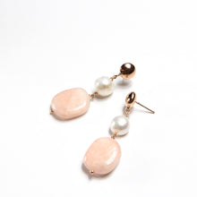 Pastel Morganite and Freshwater Pearl Earrings
