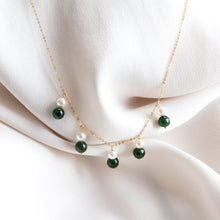 Multi Pearl and Jade Drop Necklace