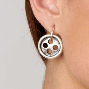 UNOde50 Needle and Button Earrings