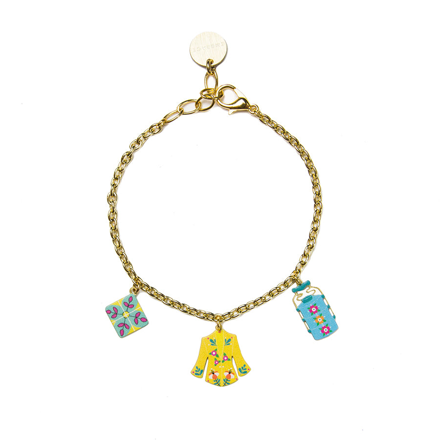 cute charm bracelet gold the jar of salt