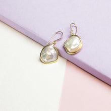 Organic Shape Freshwater Pearl Earrings
