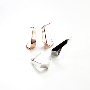 Origami Hoop Earrings