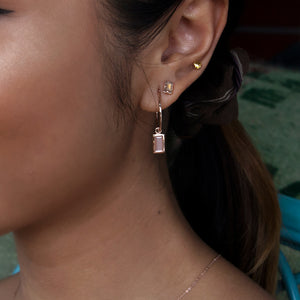 Peach Moonstone Layla Hoops