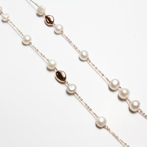 Freshwater Pearl and Droplet Necklace
