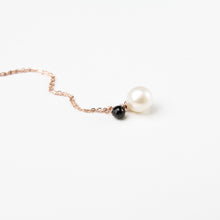 Freshwater Pearl and Black Spinel Necklace
