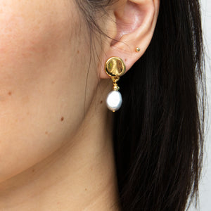 Velatti Single Pearl Drop Earrings (Pre-Order)