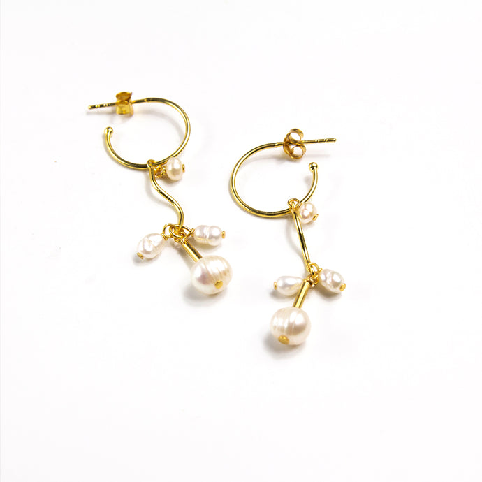 Freshwater Pearl Dangle Hoops