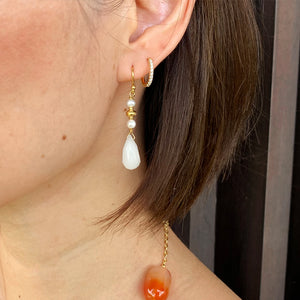 Quartz & Pearl Earrings