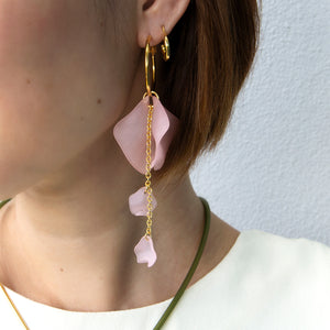 Long Drop Petal Hoops