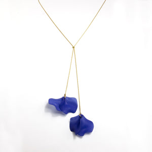 Petal Tassel Long Necklace