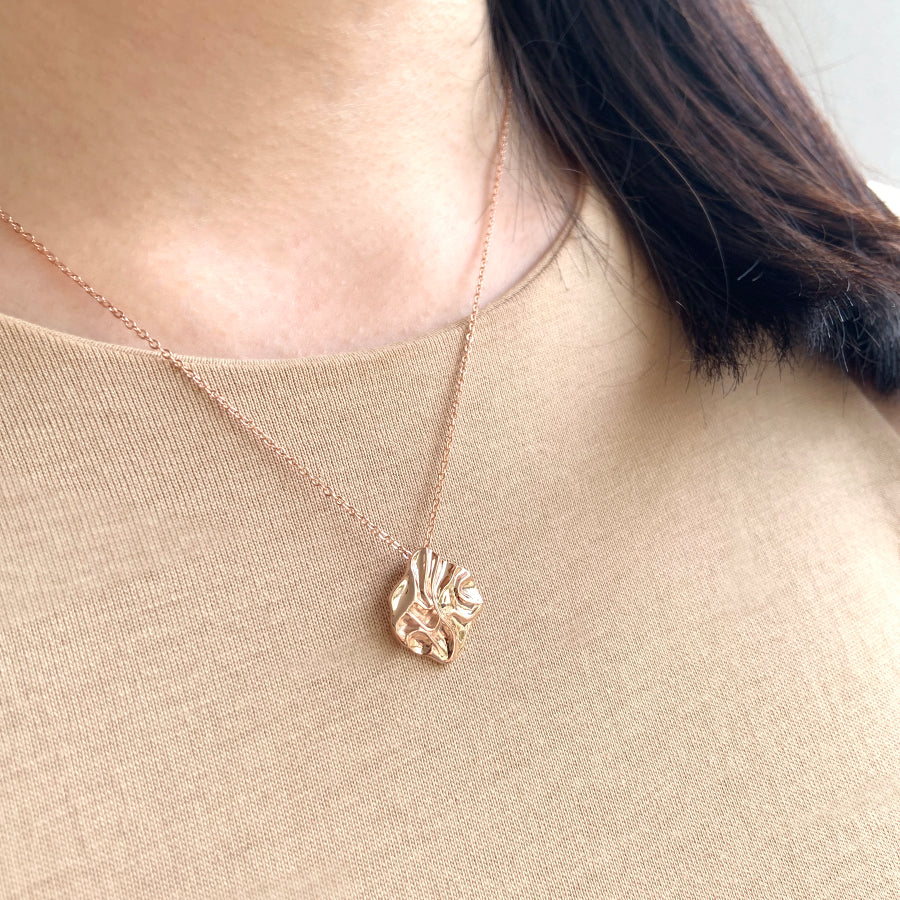 Pleated Pendant Necklace