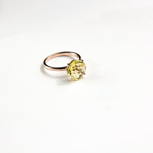 Quartz Cushion Cut Ring