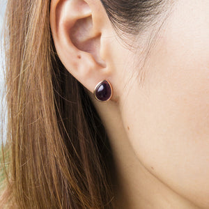 Rainbow Fluorite Teardrop Stud Earrings