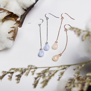 Raindrop Chain Earrings