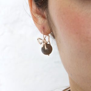Moonstone Ribbon Earrings