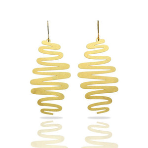 RAS Ribbons Gold Earrings