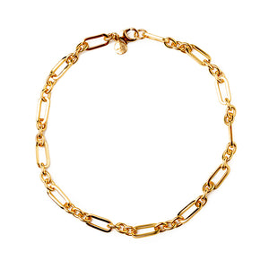Velatti Plain Links Short Necklace (Pre-Order)