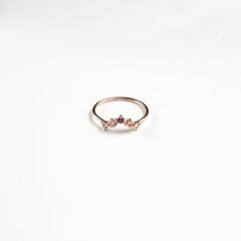 Rock Crystal, Rose Quartz and Garnet Sienna Ring