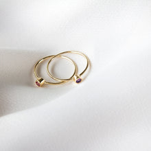 Single Stone Cleo 9k Gold Ring