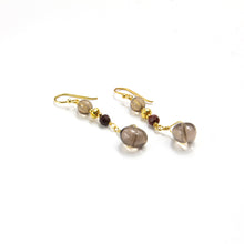 Smoky Quartz & Red Jasper Earrings