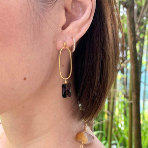 Smoky Quartz Loop Earrings