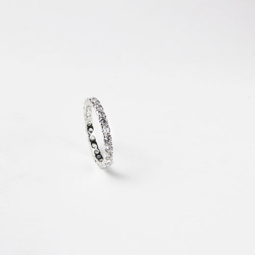 zirconia encrusted 925 sterling silver ring