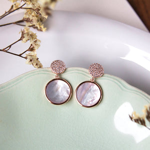 Lustre Mother of Pearl Earrings