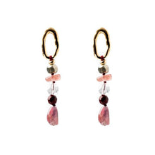Velatti Stacked Gemstone Earrings (Pre-Order)