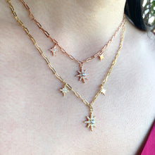 Triple Star Link Chain Necklace