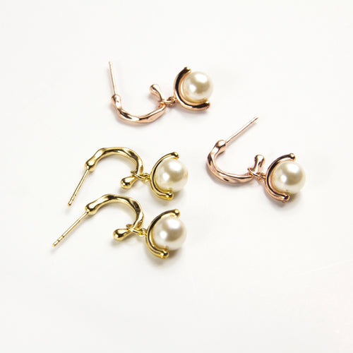 Stellar Pearl Drop Earrings
