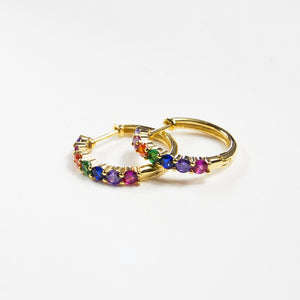 Summer Rainbow Hoops