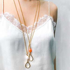 Velatti Teardrop Pendant Necklace