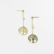 Tree of Life Chain Earrings