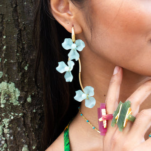 Hanging Petal Earrings
