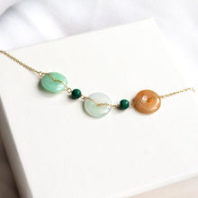 Tri-Colour Jade 18K Gold Bracelet