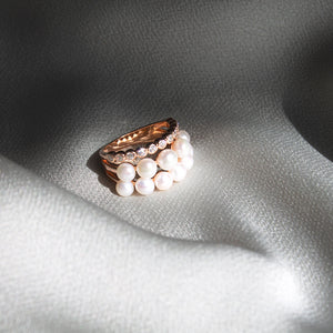 Pearl Triple Stack Ring