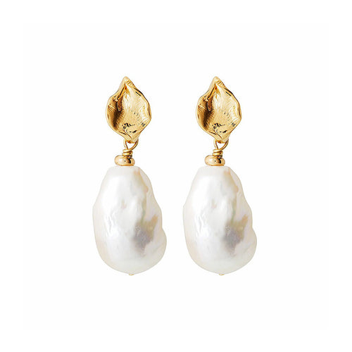 Velatti Baroque Pearl Drop Earrings