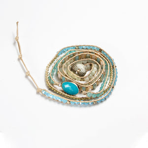 It's a Wrap Bracelet - Aquamarine