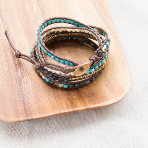 bohemian layered beaded bracelet