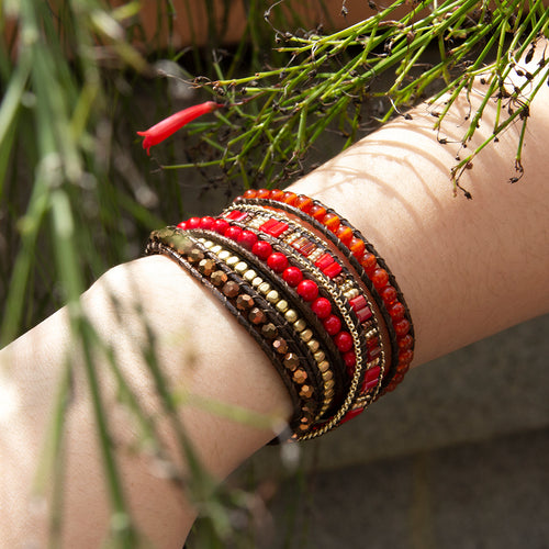 It's a Wrap Bracelet - Scarlet