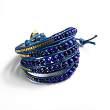 It's a Wrap Bracelet - Cobalt